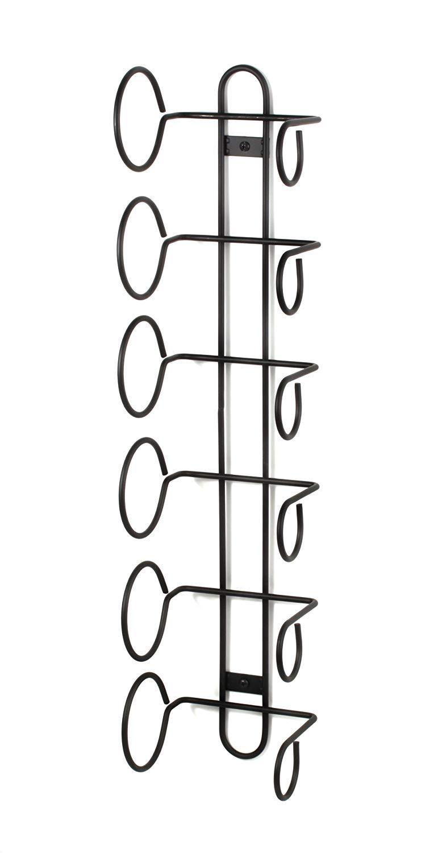 Spectrum Diversified Wine Rack, Wall Mount, 6-Bottle, Black