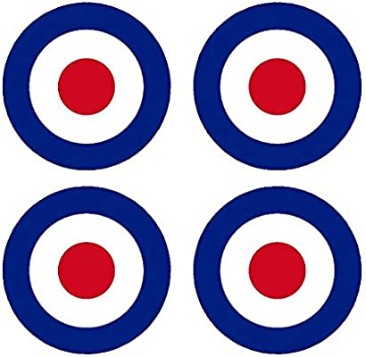 RC7 Red Blue White RAF Roundels 2 3//4 RC Airplane Sticker Decal Set of 4 Remote Control