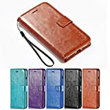 iPhone 8 Case, iPhone 7 Case, HLCT PU Leather Wallet Case, With Soft