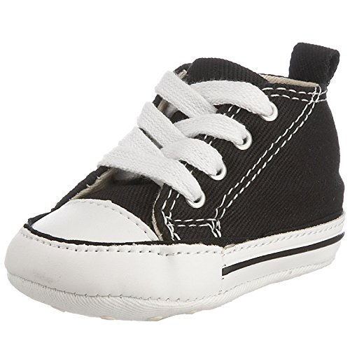 Converse Baby First Star High Top Sneaker, Black, 1 M US Infant