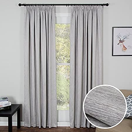 Topfinel Pleat Blackout Curtain Thermal Insulated Solid Window Treatment 54 Inch Wide X 84 Drop
