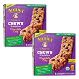 Annie's Organic Chewy Chocolate Chip Granola Bars 6 ct (Pack of 2)