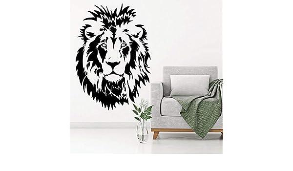 Ajcwhml Lion Head Kids Tatuajes de Pared de Vinilo Etiqueta de La Pared Animal Poster Decoración para Niños Dormitorio Sala de Estar Oficina Casa Decoración para el hogar 31x42 cm: Amazon.es: Hogar
