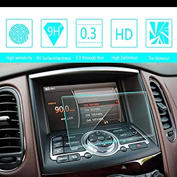 8X-SPEED for 2015 2017 Jaguar XE 8-Inch 169x100mm Car Navigation Screen Protector HD Clarity 9H Tempered Glass Anti-Scratch in-Dash Media Touch Screen GPS Display Protective Film