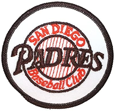 Logo patch embroidered)'',San Diego Padres Baseball Club'', MLB Alternate Team Logo Iron On Applique Patch+ E-book with pictures