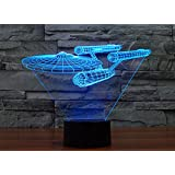 Star Wars Light Colorful 3D stereoscopic visual LED light USB table lamp TUOFENG night light touch pad switch,and produces unique lighting effects and 3D visualization - Amazing Optical Illusion (Star Trek ships)