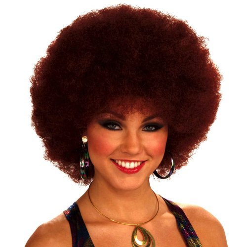 Adult Afro Wig (Forum Novelties Women's 70's Disco Doll Afro Wig, Auburn, One Size)