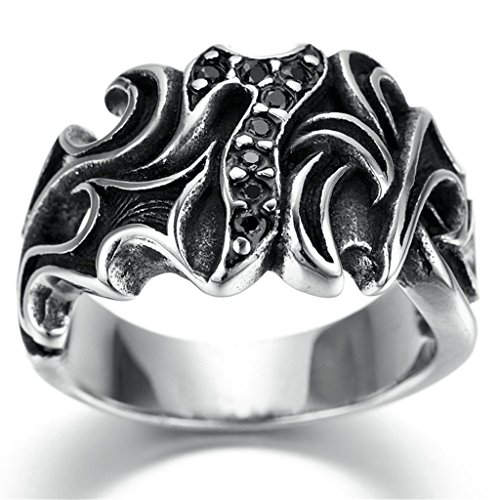 [Stainless Steel Ring for Men, Claw Ring Gothic Black Band Gold Size 12 Epinki] (Boss Hog Costume)