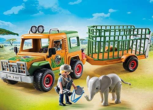PLAYMOBIL Wild Life 6937 Rangergeländewagen mit Anhänger, Ab 4 Jahren