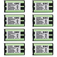 EBL 8 Packs 3.6V 1000mAh Cordless Phone Battery for Panasonic HHR-P104 HHR-P104A KX-FG6550 KX-FPG391 KX-TG2302 KX-TG2303 KX-TG2312