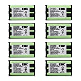 EBL 8 Packs 3.6V 1000mAh Cordless Phone Battery for Panasonic HHR-P104 HHR-P104A KX-FG6550 KX-FPG391 KX-TG2302 KX-TG2303 KX-TG2312