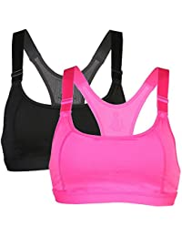 High Impact Women's Racerback Sports Bra Push Up Seamless Full Figure Racerback Wirefree Yoga Top Bra