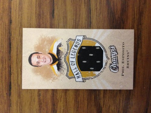2008-09 Upper Deck Champ's Hall of Legends Sports Mem #HOLPE Phil Esposito Jsy (Deck 09 Upper Legends)