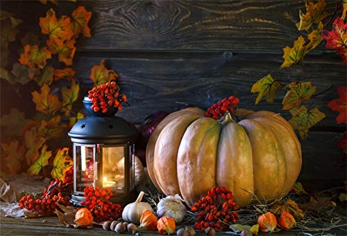 AOFOTO 9x6ft Autumn Harvest Pumpkin Photography Backdrops Fallen