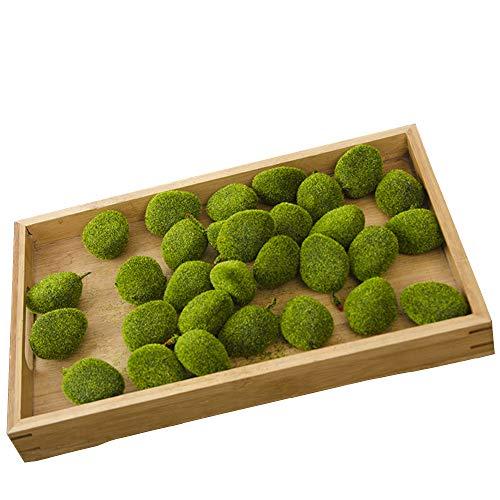 Decorative Moss Balls Mesmerizing Green Artificial Flocking Moss Balls Decorative Faux Moss Stones For