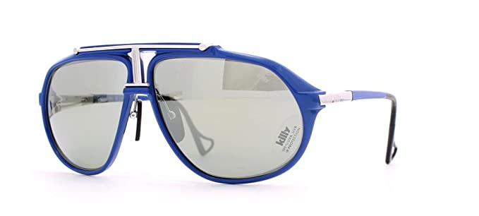 e0f4077f6b5 Jean Claude Killy 469 78-002 Blue Aviator Certified Vintage Sunglasses For  Mens  Amazon.co.uk  Clothing