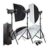 GOWE 3X 400W Professional Studio Strobe Flash Light Photography Lighting Kit For Wedding Fashion Advertisement