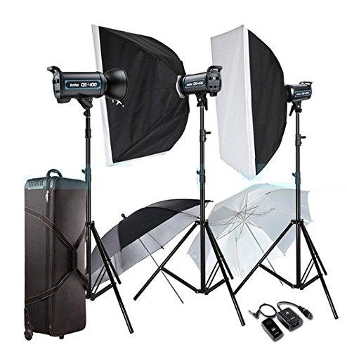 GOWE 3X 400W Professional Studio Strobe Flash Light Photography Lighting Kit For Wedding Fashion Advertisement