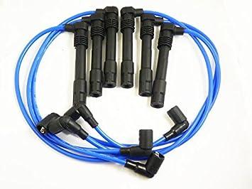 Nueva Bujía de encendido cable de alambre Set para VW Passat Audi A4 A6 qw1282 250079696: Amazon.es: Coche y moto