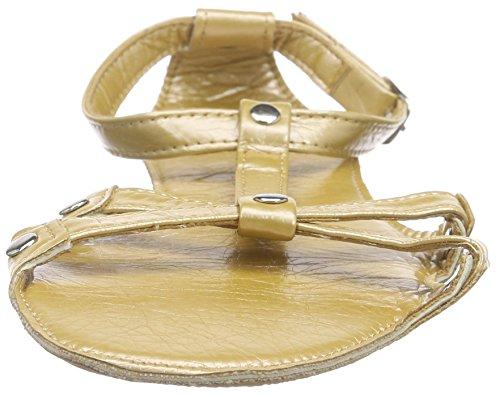 Lise Lindvig Fia - Sandalias de Talón Abierto Mujer Dorado - Gold (Light gold)