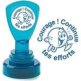 """Tampons auto-encreurs pour enseignants """"Courage ! Continue tes efforts"""" Encre Bleu"""