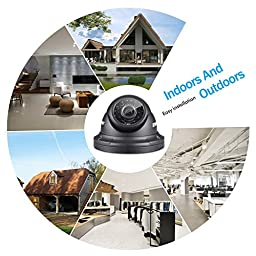 ANNKE 32-Channel H.264 Surveillance DVR Recorder and (16) 720p 1280TVL Outdoor CCTV Dome Camreas Security System, IP66 Weatherproof Meyal Housing, Day/Night Hi-Resolution-NO HDD