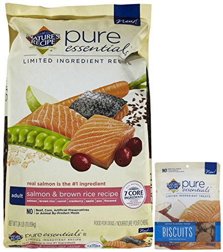 Nature's Recipe Pure Essentials Adult Salmon & Salmon Biscuits Bundle