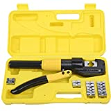 8 Ton Hydraulic Wire Battery Cable Lug Terminal Crimper Crimping Tool 8 Dies TKT-11