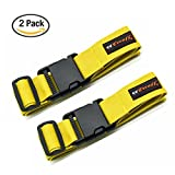 Teeoff Luggage Straps Suitcase Belts Travel Bag Accessories Adjustable 180CM (Yellow#2(180cm))