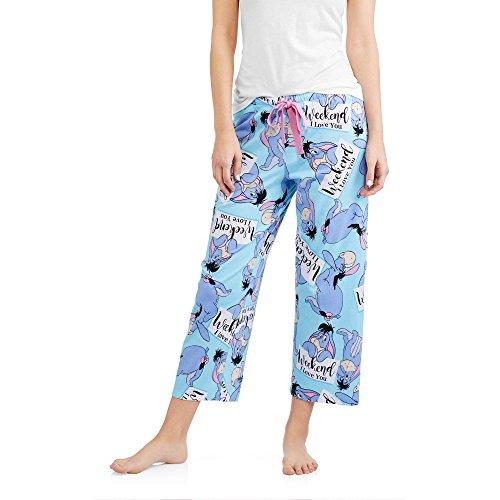 Disney Pooh Pjs (Disney Women's Eeyore From Winnie The Pooh Capri Sleep Lounge Pants (S))
