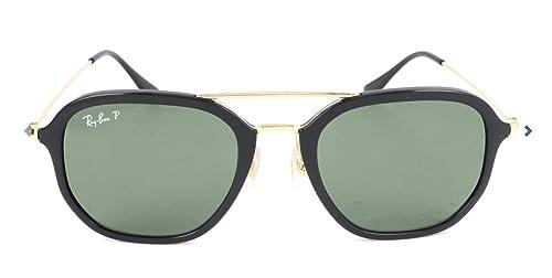 Amazon.com: Ray-Ban HIGHSTREET Aviator anteojos de sol de la ...