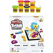 Play-Doh Touch Shape and Style Set + Play-Doh Rainbow Starter Pack Bundle