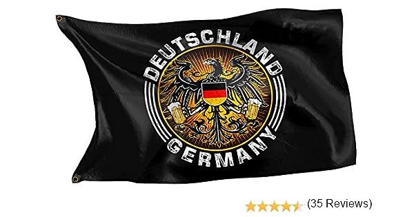 Bandera con diseño original de Rahmenlos® Bandera de Alemania con ...