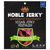 NOBLE Jerky - Teriyaki - Vegan & Vegetarian Snacks, 14 Grams of Protein, Plant Based Protein, Non GMO