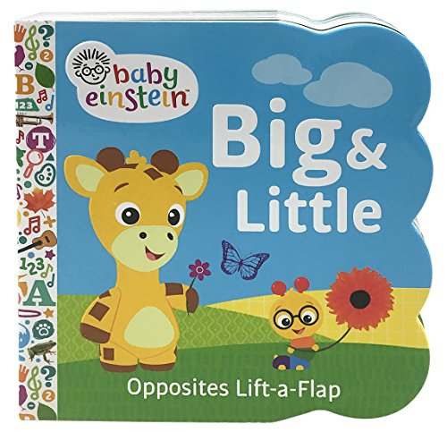 Baby Einstein Big and Little Chunky Lift a Flap Board Book: An Opposites Book