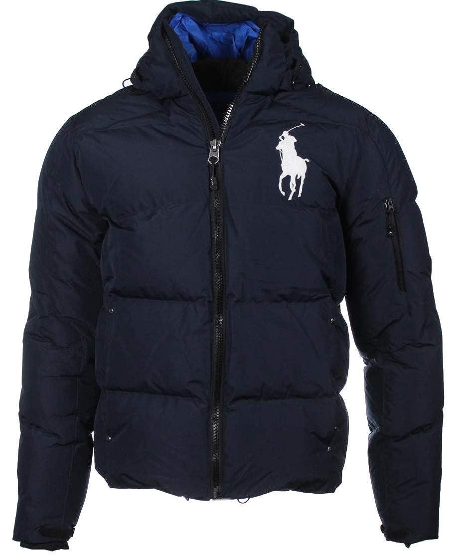 Ralph Lauren Chaqueta de plumón, Big Pony, Logotipo Grande - o Azul: Amazon.es: Ropa y accesorios