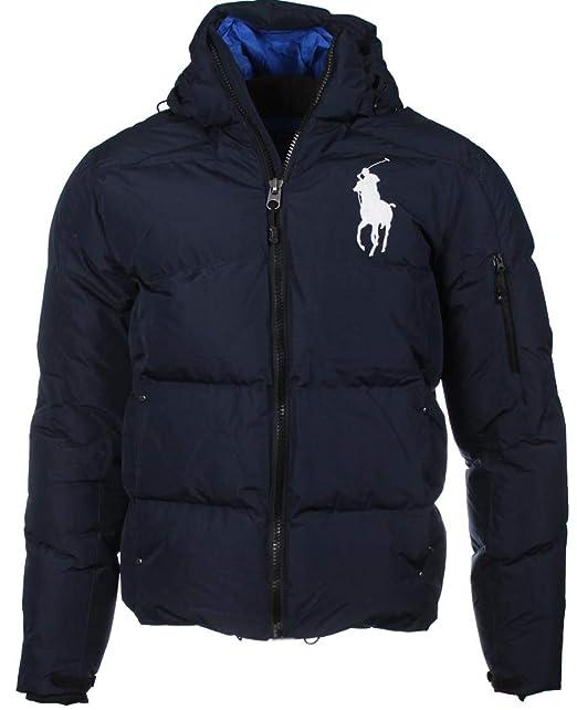 Ralph Lauren Daunen Jacke, Big Pony, großes Logo Navy oder Blau