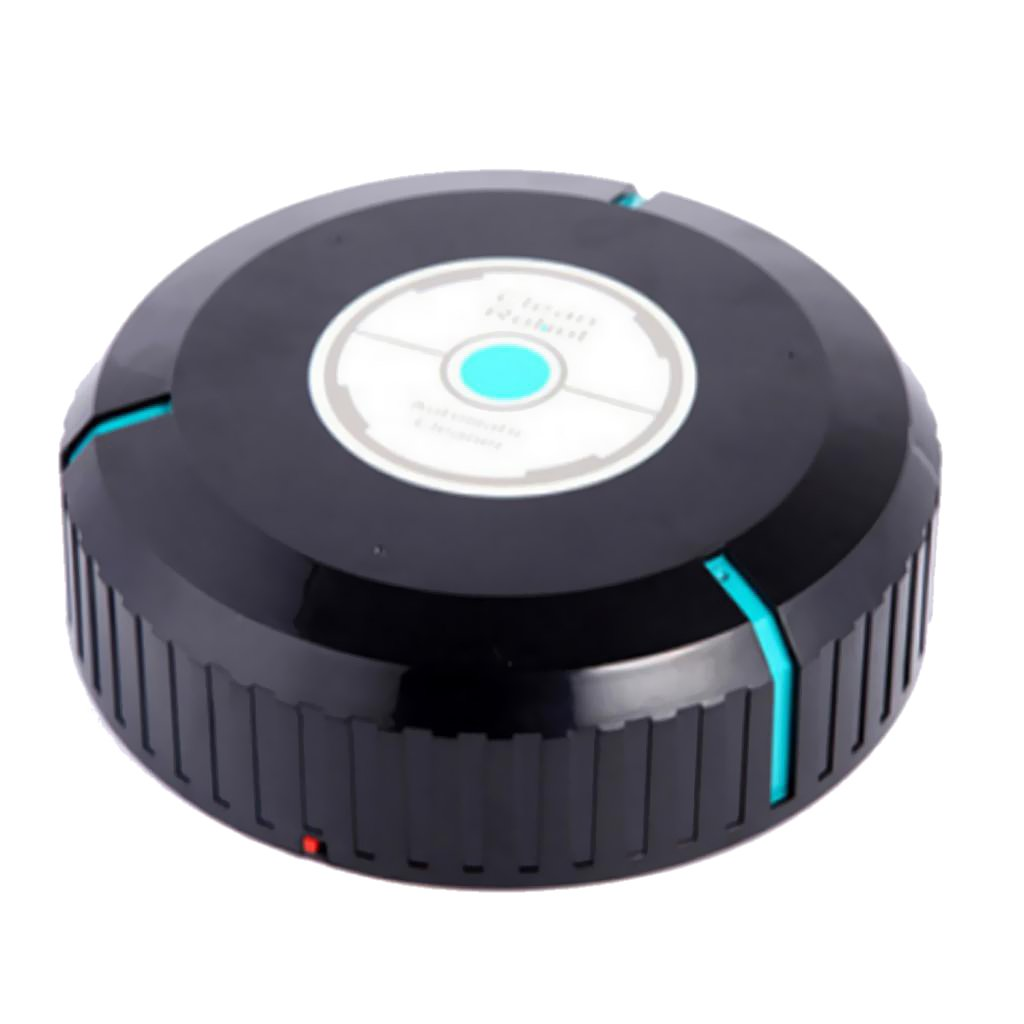 MonkeyJack Automatic Cordless Vacuum Cleaning Robot Robotic Vacuum Vac Cleaner for Hair Dust Dirt Removal - Black, 5.5x23cm