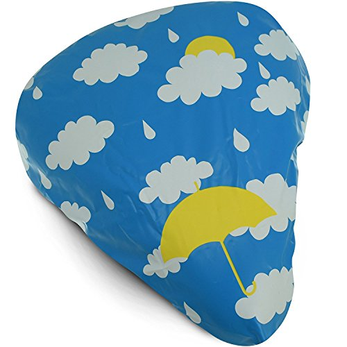 Waterproof Bike Seat Cover - Bicycle Saddle and Dust Rain Protection Exclusive Artist Design (Coulds)