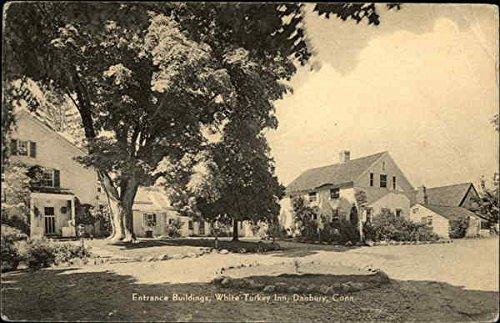 Entrance Buildings, White Turkey Inn Danbury, Connecticut Original Vintage Postcard