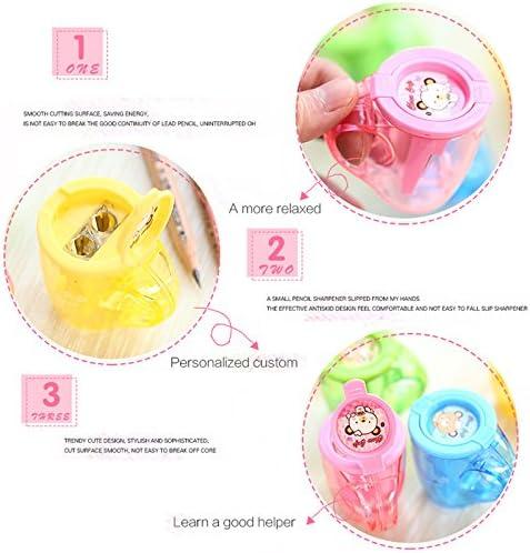 Oyfel Taille-crayon Tasse /à Th/é Kawaii Mignon Rose en Plastique pour Enfant Gar/çon Fille Ecole 1 Pcs Couleur Al/éatoire