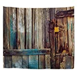 Cheap A.Monamour Country Rustic Grunge Wooden Barn Door Abstract Photography Backdrops Art Print Polyester Fabric Wall Hanging Tapestry Wall Decorations Curtains Bedspreads 180X200Cm/71 X80
