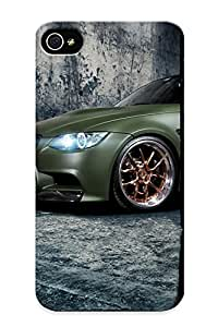 New Premium Flip Case Cover Matte Green Bmw Skin Case For Iphone 4/4s