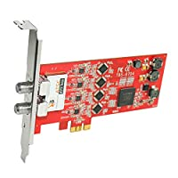 TBS6704 ATSC Clear QAM Quad Tuner PCIe Digital TV Card for Window Linux HTPC IPTV Server