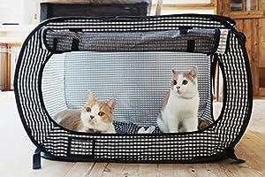 Necoichi Portable Stress Free Cat Cage Always Ready to go! by Necoichi