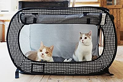 Necoichi Portable Stress Free Cat Cage Always Ready to go! by Necoichi