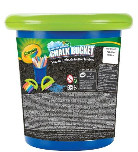 Crayola 03-5104-E-100 - Straßenkreide mit Halter und Aufbewahrungseimer, blau