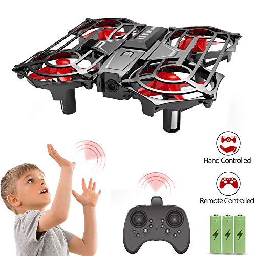 Mini Drone for Kids Boys Toys Gifts, JoyGeek Hand Operated Scoot Drones RC Remote Control Helicopter Easy Force Indoor Flying Plane 360 UFO with Induction Altitude Hold for Children Adults Beginners