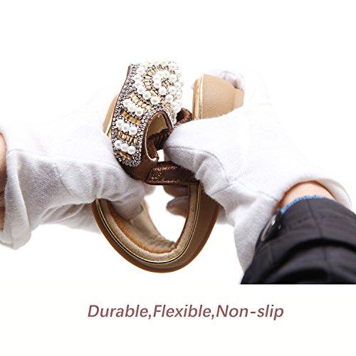 Flat Flammi Sandals T Flip Womens Sandals Flop Summer Rhinestone Pearl Strap Black Thong PIxrFqIw