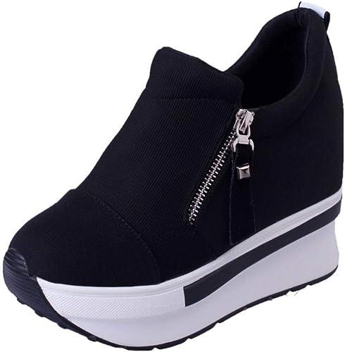 OSYARD Basket Compensee Mode pour Femmes Wedge Sneakers pour Femmes, Plateforme Chaussure Sport Fitness, Convient à Toutes Les Saisons